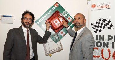 defibrillatore nella sede ACI di Milano