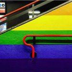 Milano arcobaleno permanente nella stazione metro di Porta Venezia