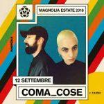 Coma_Cose tornano a Milano: mercoledì 12 settembre
