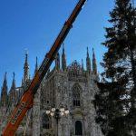 Albero di Natale in piazza Duomo arrivato oggi, il 5 l'accensione