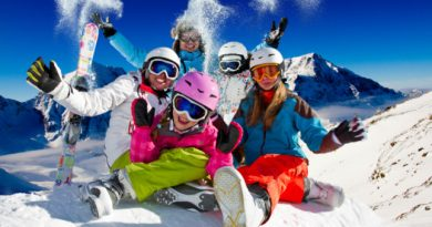 poster giganti vacanze sulla neve