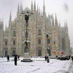 Bomba di neve su Milano nei giorni della merla