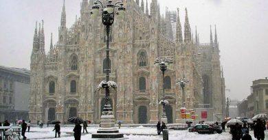 Bomba di neve su Milano