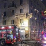 Incendio in uno stabile di viale Gorizia 34