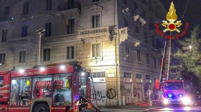 incendio viale Gorizia 34 Milano
