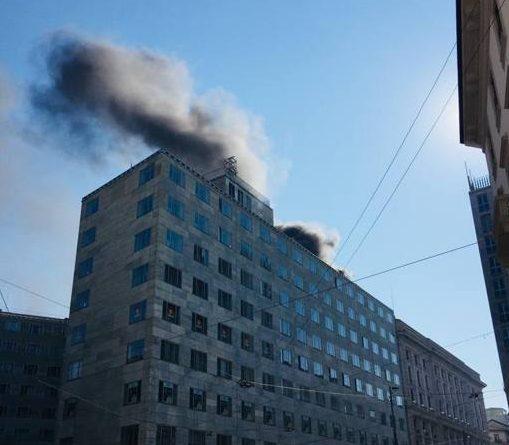Milano incendio via Turati