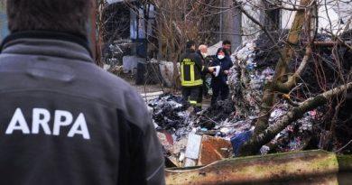 Incendio in via Campazzino