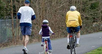 andare a piedi e in bicicletta