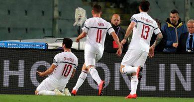 Champions Milan esultanza Calhanoglu