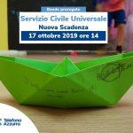 Bando Servizio Civile Universale Nuova Scadenza 17 ottobre ore 14