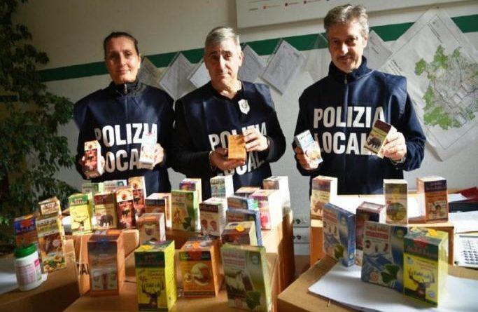 Integratori non a norma a Milano - sequestro dei ghisa