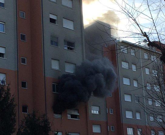 Incendio in via don Luigi Sturzo a Cernusco sul Naviglio
