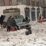 Grandinata ad Alzano e Nembro, allagamenti a Bergamo, a Milano allarme fiumi poi rientrato