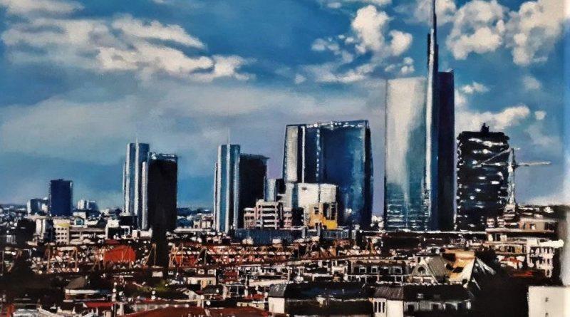 Milano Resart 40 50 cm acrilico su tela 2020 collezione privata